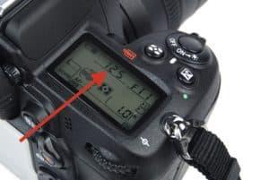 close up of digital camera menu