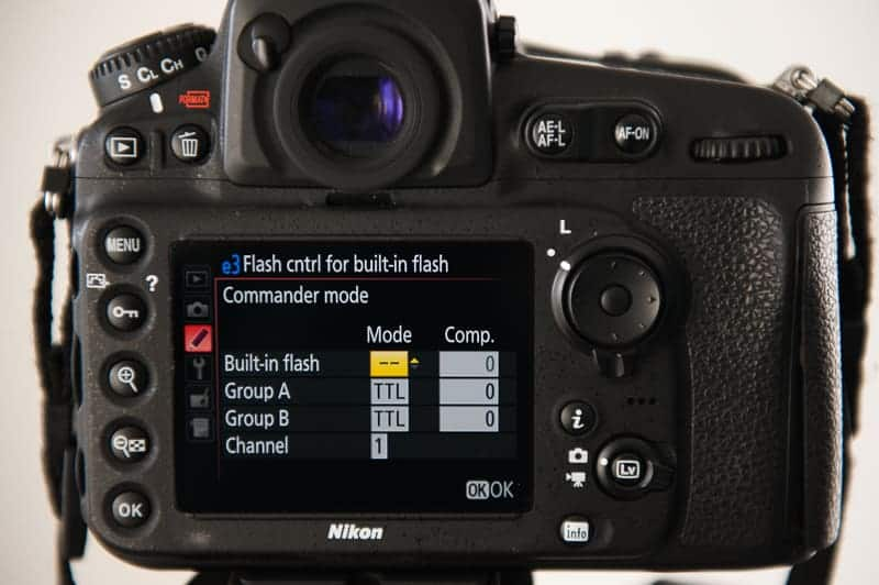 How to set up commander mode for off camera flash