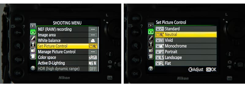 How to set camera color calibration