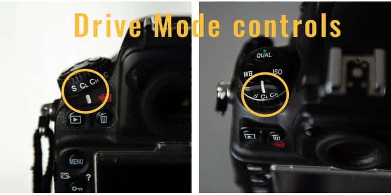Nikon drive modes for portrait photography