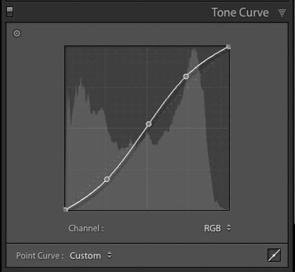 Lightroom S shaped tone curve