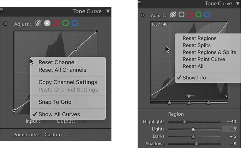 Changes to the tone curve in Lightroom update