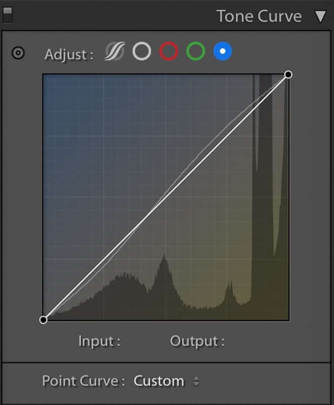 Lightroom Classic blue channel tone curve