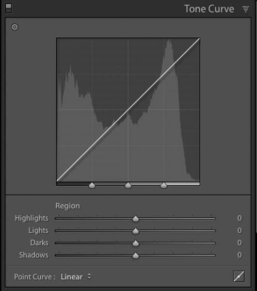 Regional sliders are an easy beginner Lightroom tone curve tool