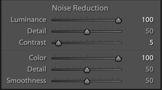 Maximum noise reduction makes photos too smooth
