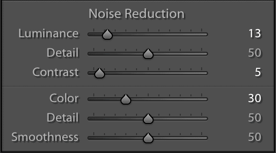 How to use noise reduction sliders in Lightroom Classic