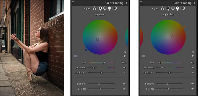 color grading photo editing