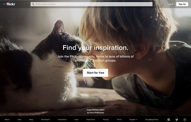 Best photo sharing app Flickr