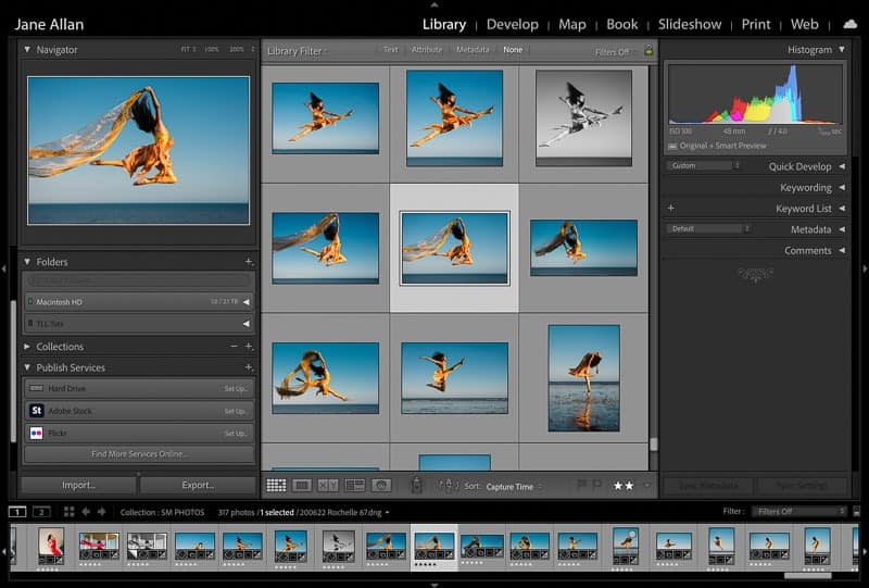 Lightroom library grid view shortcut