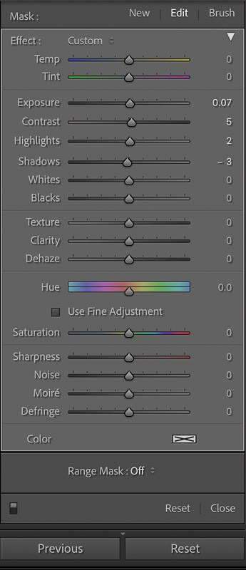 How to delete filters in Lightroom