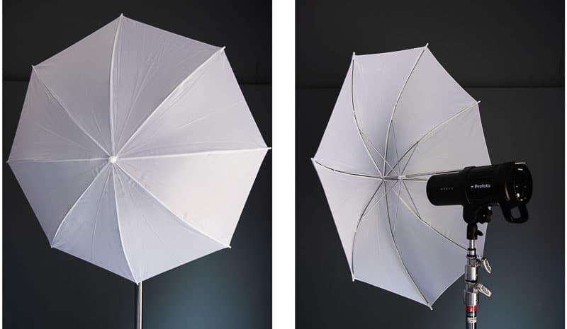 small shoot through umbrella