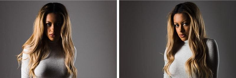 split lighting vs Rembrandt lighting