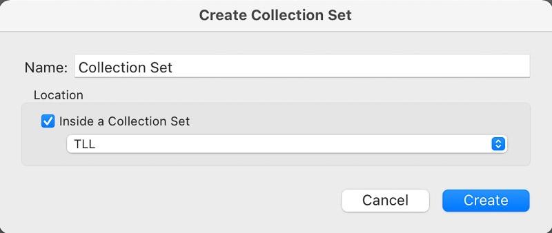 Create Lightroom collection set
