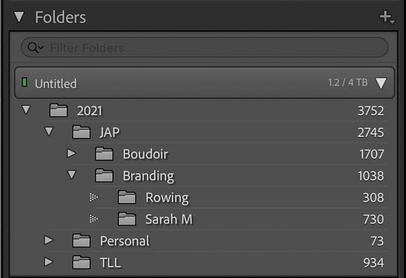 Folder organization in Lightroom