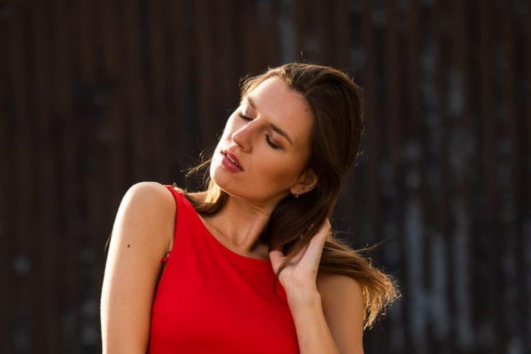 Outdoor portrait using ambient light in photography