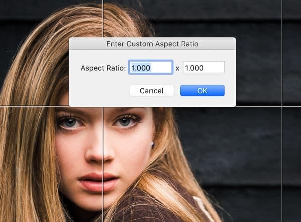 Lightroom custom aspect ratio tool